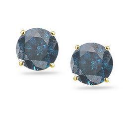 Build Your Own Blue Diamond Studs