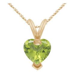 Peridot Heart Shape Pendant
