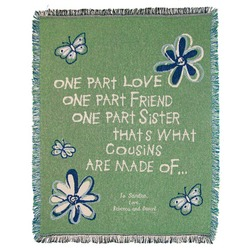 Personalized Cousin Butterfly Throw