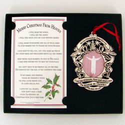 Merry Christmas from Heaven Personalized Frame Ornament