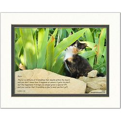 Friend or Family Poem Personalized Calico Kitten Print
