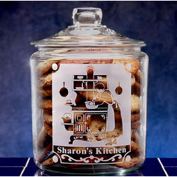 Personalized Vintage Kitchen Glass Cookie Jar