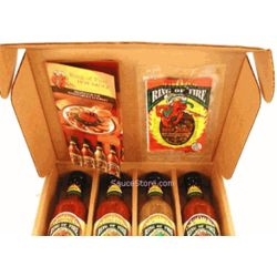Ring of Fire Hot Sauce with Beef Jerky Gift Set