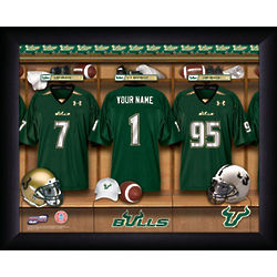 South Florida Bulls Locker Room Framed Print
