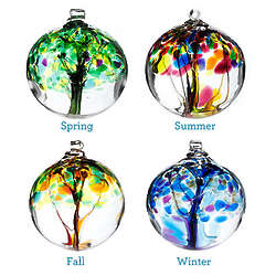 Four Seasons Glass Globe
