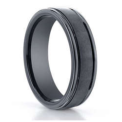 Seranite Black Ceramic Ring