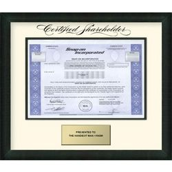 Snap-On Stock Certificate