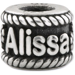 Personalized Sterling Silver Bead