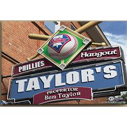 Personalized 24x36 Philadelphia Phillies Pub Sign