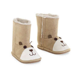 Faux Suede Bear Boots