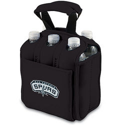 San Antonio Spurs Black 6-Pack Cooler