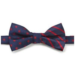 Stars and Stripes Woven Silk Pre-tied Bow Tie