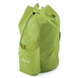 Green Nylon Laundry Tote Bag
