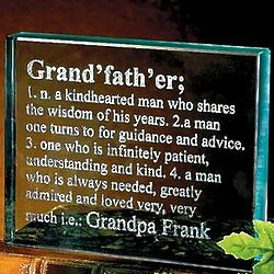 Personalized Grandfather Definition Glass Block