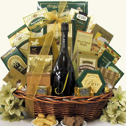 Gourmet Sophisticate J Vineyard Cuvee Champagne Gift Basket
