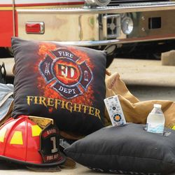 Firefighter Proud to Serve Pockets Pillow