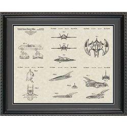 Batman Patent Collector Framed Art Print