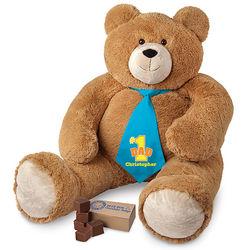 Big Hunka Love Number 1 Dad Necktie Teddy Bear with Fudge