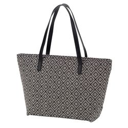 Personalized Charlotte Purse with Black Diamond Pattern