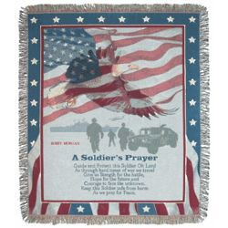 Personalized Soldiers Prayer Tapestry Throw