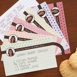 Personalized Photo Recipe Cards