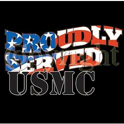 Proudly Served USMC T-Shirt