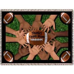 All 4 One Football Team Mom Tapestry Throw