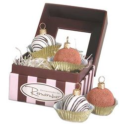 Glass Ornament Truffles Gift Set