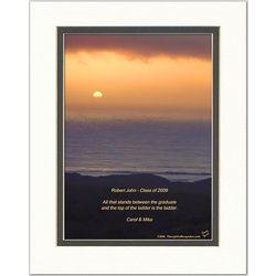 Graduation Poem Personalized Ocean Sunset Print