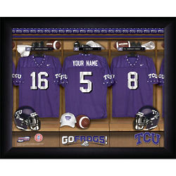 Personalized TCU Frogs College Football Locker Room Framed Print