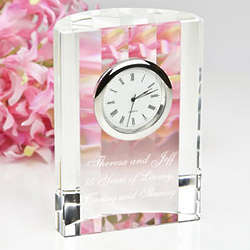 Personalized Elegant Optical Crystal Clock