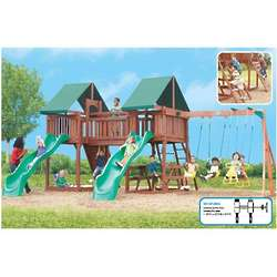 Sequoia Double Deck and Slide Swing Set
