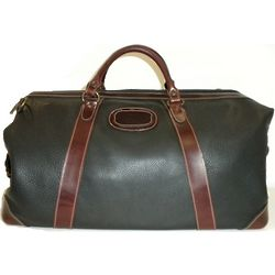 Expandable Leather Duffle Bag