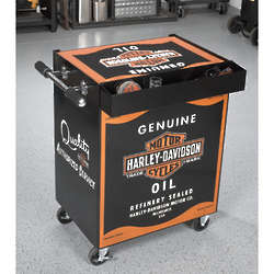 Harley-Davidson Oil Can Beverage Cart