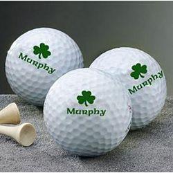 Personalized Shamrock Golf Balls