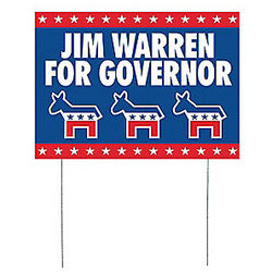 Personalized Democratic Party Yard Sign
