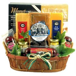 Rustic Meat & Cheese Gift Basket