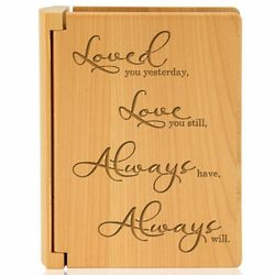 Love You Always Wooden Photo Album
