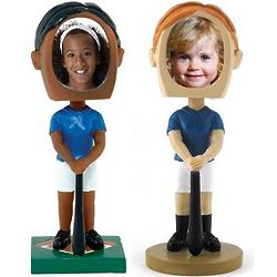 Photo Frame Face Softball Bobblehead