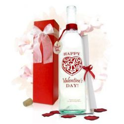 Personalized Valentine's Day Message in a Bottle with Gift Box