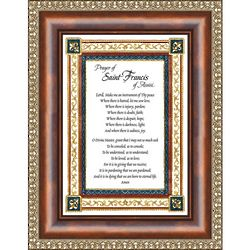 Prayer to St. Francis of Assisi Framed Print