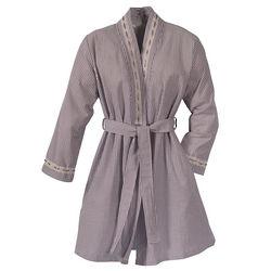 Seersucker Wrap Robe
