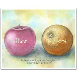 Personalized Apples & Oranges II Art Print