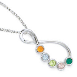 Eternal Family Birthstone Necklace