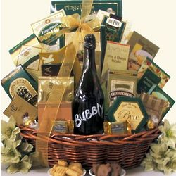 Gourmet Sophisticate Bubbly Sparkling Wine Gift Basket