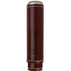 Xikar Envoy Single Cigar Cognac Leather Case