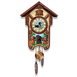 Playful Pups Choose Your Dog Breed Cuckoo Clock