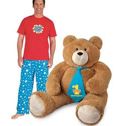 Big Hunka Love Number 1 Dad Necktie Teddy Bear with Pajamas