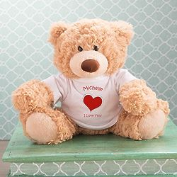 Personalized I Love You Heart Coco Teddy Bear