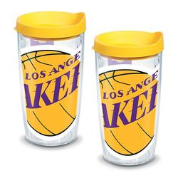 2 Los Angeles Lakers Colossal 16 Oz. Tervis Tumblers with Lids